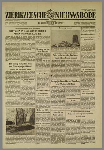 Zierikzeesche Nieuwsbode 1962-02-01