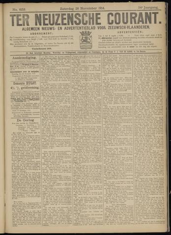Ter Neuzensche Courant. Algemeen Nieuws- en Advertentieblad voor Zeeuwsch-Vlaanderen / Neuzensche Courant ... (idem) / (Algemeen) nieuws en advertentieblad voor Zeeuwsch-Vlaanderen 1914-11-28
