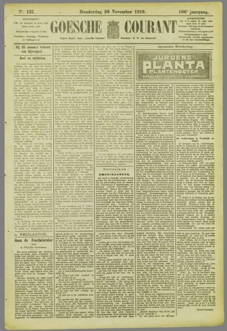 Goessche Courant 1919-11-20