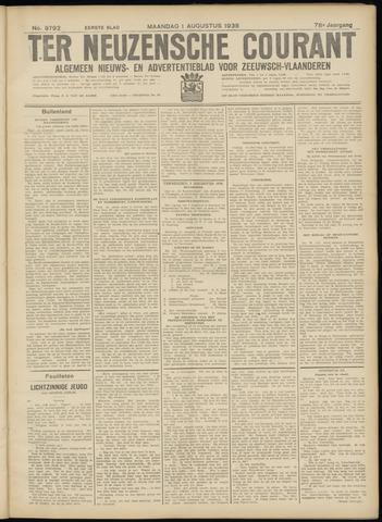 Ter Neuzensche Courant. Algemeen Nieuws- en Advertentieblad voor Zeeuwsch-Vlaanderen / Neuzensche Courant ... (idem) / (Algemeen) nieuws en advertentieblad voor Zeeuwsch-Vlaanderen 1938-08-01