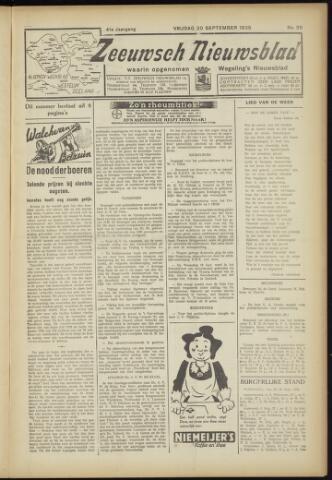 Zeeuwsch Nieuwsblad/Wegeling's Nieuwsblad 1935-09-20