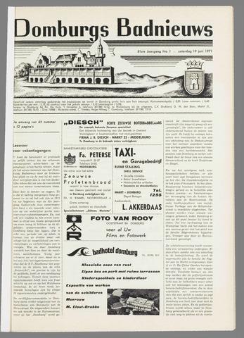 Domburgsch Badnieuws 1971