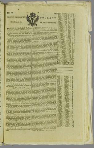 Middelburgsche Courant 1809-06-22
