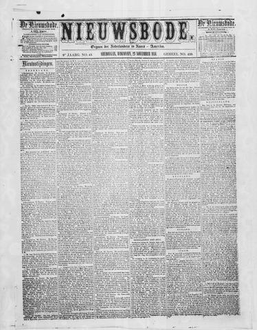 Sheboygan Nieuwsbode 1858-11-23