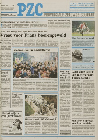 Provinciale Zeeuwse Courant 1992-11-25