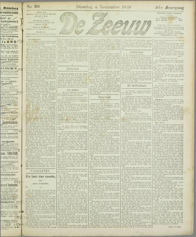 De Zeeuw. Christelijk-historisch nieuwsblad voor Zeeland 1919-11-04