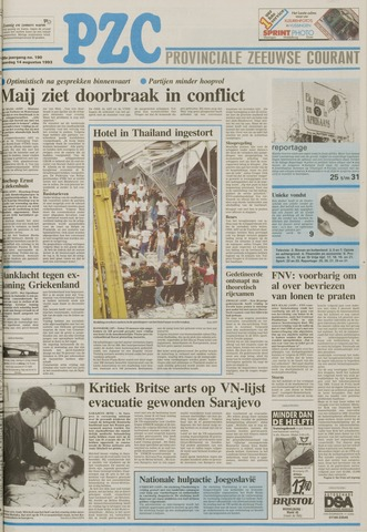 Provinciale Zeeuwse Courant 1993-08-14