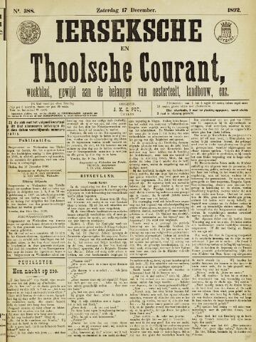 Ierseksche en Thoolsche Courant 1892-12-17