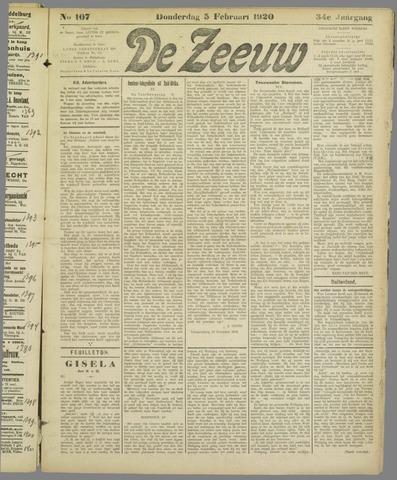 De Zeeuw. Christelijk-historisch nieuwsblad voor Zeeland 1920-02-05