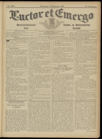 Luctor et Emergo. Antirevolutionair nieuws- en advertentieblad voor Zeeland / Zeeuwsch-Vlaanderen. Orgaan ter verspreiding van de christelijke beginselen in Zeeuwsch-Vlaanderen 1915-11-03