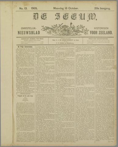 De Zeeuw. Christelijk-historisch nieuwsblad voor Zeeland 1905-10-16