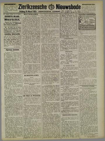 Zierikzeesche Nieuwsbode 1921-03-25