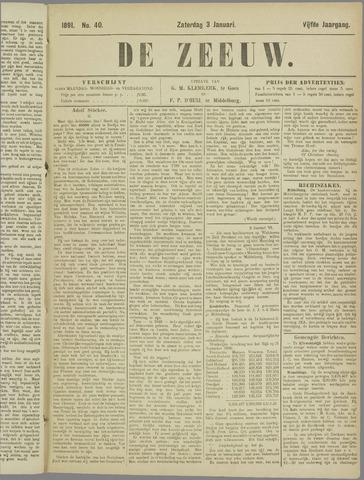 De Zeeuw. Christelijk-historisch nieuwsblad voor Zeeland 1891-01-03