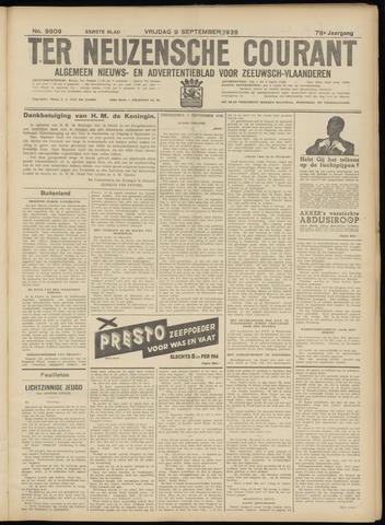 Ter Neuzensche Courant. Algemeen Nieuws- en Advertentieblad voor Zeeuwsch-Vlaanderen / Neuzensche Courant ... (idem) / (Algemeen) nieuws en advertentieblad voor Zeeuwsch-Vlaanderen 1938-09-09
