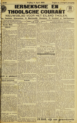 Ierseksche en Thoolsche Courant 1932-04-08
