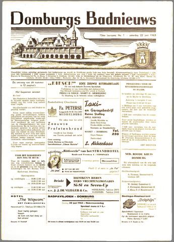 Domburgsch Badnieuws 1963