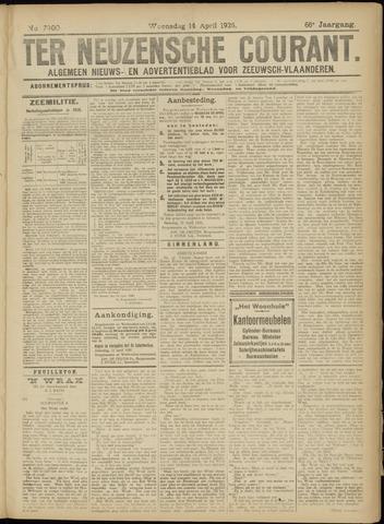 Ter Neuzensche Courant. Algemeen Nieuws- en Advertentieblad voor Zeeuwsch-Vlaanderen / Neuzensche Courant ... (idem) / (Algemeen) nieuws en advertentieblad voor Zeeuwsch-Vlaanderen 1926-04-14