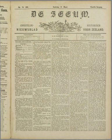 De Zeeuw. Christelijk-historisch nieuwsblad voor Zeeland 1898-03-31