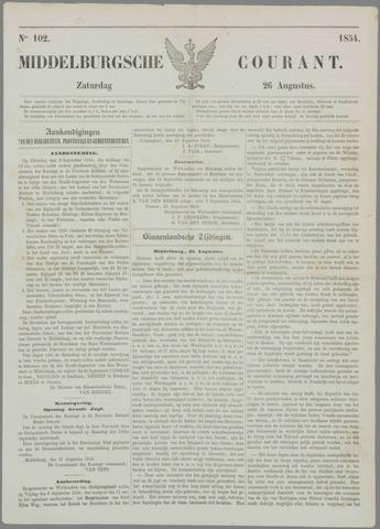 Middelburgsche Courant 1854-08-26