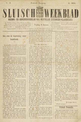Sluisch Weekblad. Nieuws- en advertentieblad voor Westelijk Zeeuwsch-Vlaanderen 1875-01-08