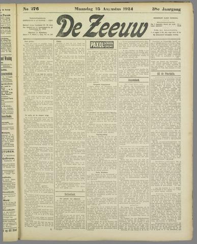 De Zeeuw. Christelijk-historisch nieuwsblad voor Zeeland 1924-08-25