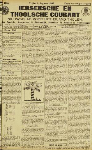 Ierseksche en Thoolsche Courant 1932-08-05