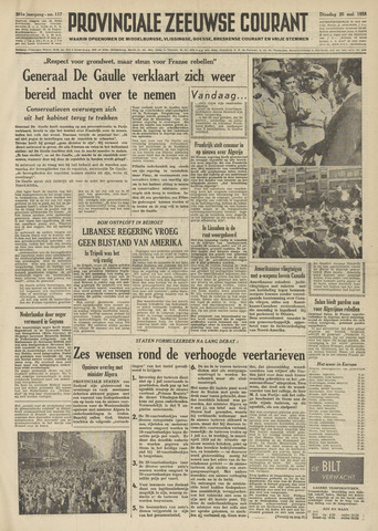 Provinciale Zeeuwse Courant 1958-05-20
