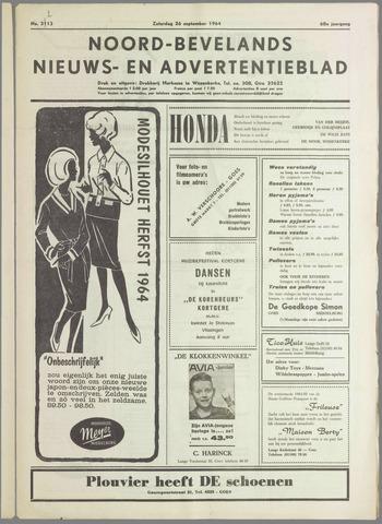 Noord-Bevelands Nieuws- en advertentieblad 1964-09-26