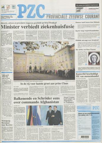 Provinciale Zeeuwse Courant 2002-10-11