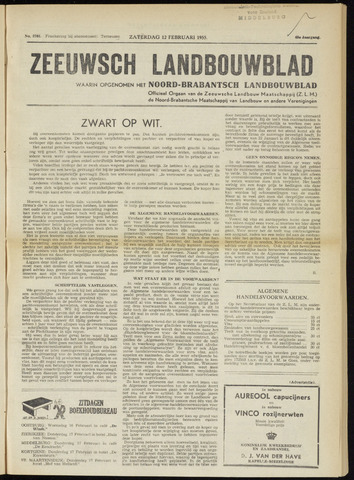 Zeeuwsch landbouwblad ... ZLM land- en tuinbouwblad 1955-02-12
