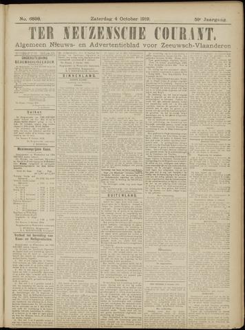 Ter Neuzensche Courant. Algemeen Nieuws- en Advertentieblad voor Zeeuwsch-Vlaanderen / Neuzensche Courant ... (idem) / (Algemeen) nieuws en advertentieblad voor Zeeuwsch-Vlaanderen 1919-10-04