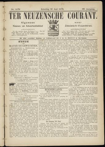 Ter Neuzensche Courant. Algemeen Nieuws- en Advertentieblad voor Zeeuwsch-Vlaanderen / Neuzensche Courant ... (idem) / (Algemeen) nieuws en advertentieblad voor Zeeuwsch-Vlaanderen 1879-06-21