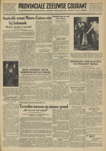 Provinciale Zeeuwse Courant 1950-08-29