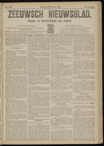 Ter Neuzensch Volksblad. Vrijzinnig nieuws- en advertentieblad voor Zeeuwsch- Vlaanderen / Zeeuwsch Nieuwsblad. Nieuws- en advertentieblad voor Zeeland 1918-10-26