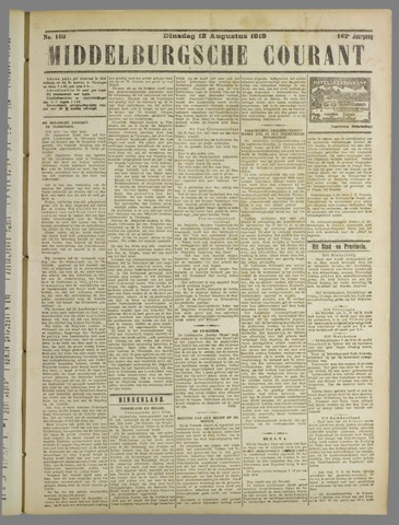 Middelburgsche Courant 1919-08-12