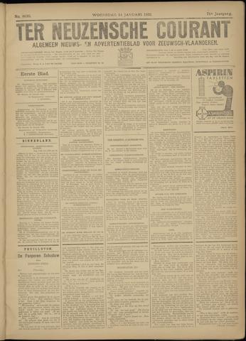 Ter Neuzensche Courant. Algemeen Nieuws- en Advertentieblad voor Zeeuwsch-Vlaanderen / Neuzensche Courant ... (idem) / (Algemeen) nieuws en advertentieblad voor Zeeuwsch-Vlaanderen 1931-01-14