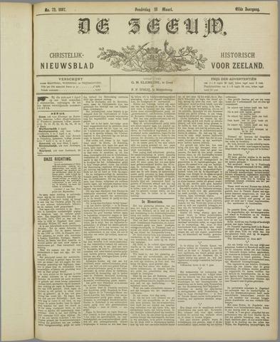 De Zeeuw. Christelijk-historisch nieuwsblad voor Zeeland 1897-03-18