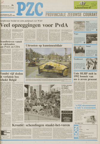 Provinciale Zeeuwse Courant 1991-08-08