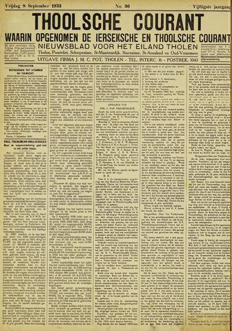 Ierseksche en Thoolsche Courant 1933-09-08