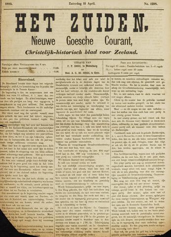 Het Zuiden, Christelijk-historisch blad 1885-04-11