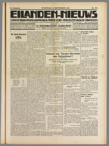 Eilanden-nieuws. Christelijk streekblad op gereformeerde grondslag 1938-09-21