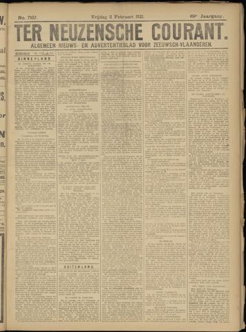 Ter Neuzensche Courant. Algemeen Nieuws- en Advertentieblad voor Zeeuwsch-Vlaanderen / Neuzensche Courant ... (idem) / (Algemeen) nieuws en advertentieblad voor Zeeuwsch-Vlaanderen 1921-02-11