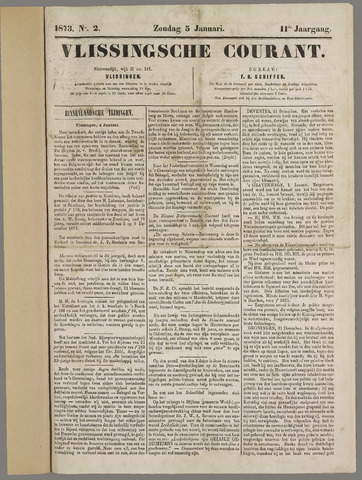 Vlissingse Courant 1873