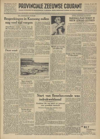 Provinciale Zeeuwse Courant 1951-07-28
