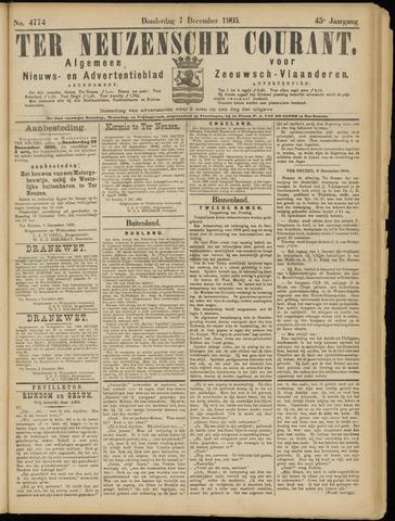 Ter Neuzensche Courant. Algemeen Nieuws- en Advertentieblad voor Zeeuwsch-Vlaanderen / Neuzensche Courant ... (idem) / (Algemeen) nieuws en advertentieblad voor Zeeuwsch-Vlaanderen 1905-12-07