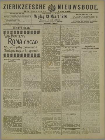 Zierikzeesche Nieuwsbode 1914-03-13