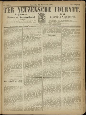 Ter Neuzensche Courant. Algemeen Nieuws- en Advertentieblad voor Zeeuwsch-Vlaanderen / Neuzensche Courant ... (idem) / (Algemeen) nieuws en advertentieblad voor Zeeuwsch-Vlaanderen 1896-11-12