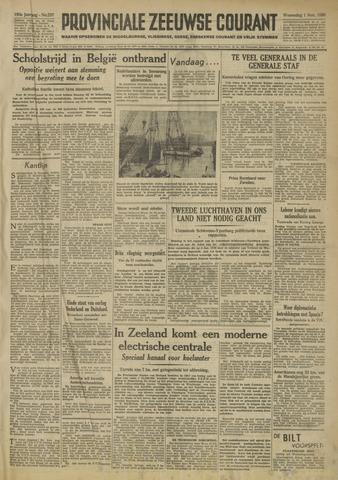 Provinciale Zeeuwse Courant 1950-11-01