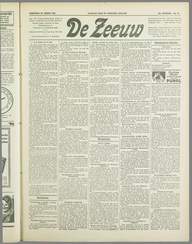 De Zeeuw. Christelijk-historisch nieuwsblad voor Zeeland 1934-01-25