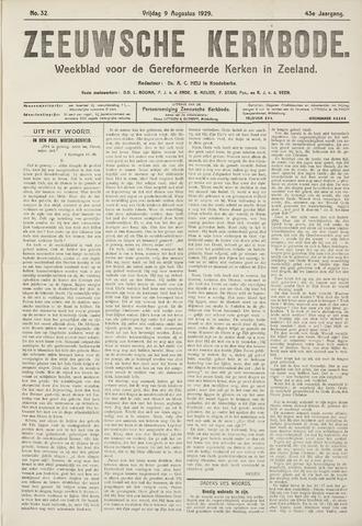 Zeeuwsche kerkbode, weekblad gewijd aan de belangen der gereformeerde kerken/ Zeeuwsch kerkblad 1929-08-09